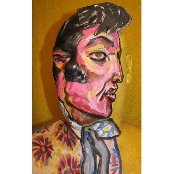 А вот и сам Поп Король Элвис Пресли в исполнении авангардного художника