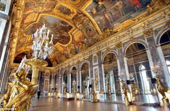 Подленник: Зал Зеркал в настоящем роскошном Версальском дворце