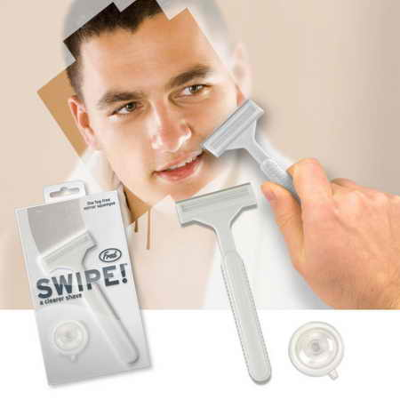 "Необычная бритва для зеркала ""Swipe"""