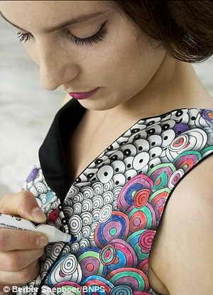 Раскрась себе платье