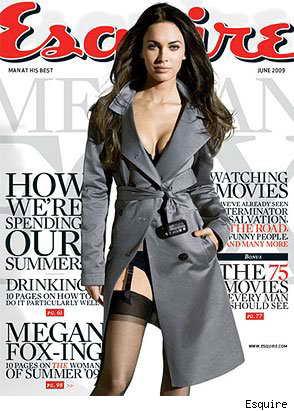 Актриса Меган Фокс на обложке журнала Esquire, июнь 2009