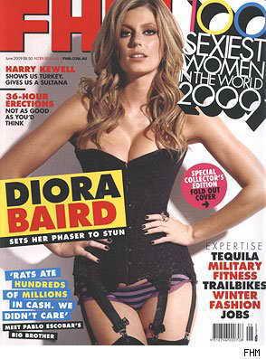 Актриса Диора Бейрд, британский FHM, июнь 2009