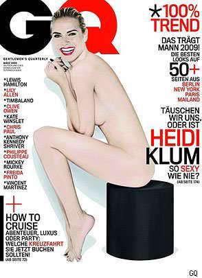 Хайди Клум, немецкий GQ, март 2009
