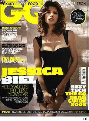 Актриса Джессика Бил, британский GQ, январь 2009