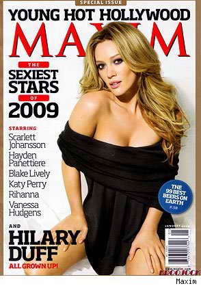 Актриса Хиллари Дафф, Maxim, январь 2009