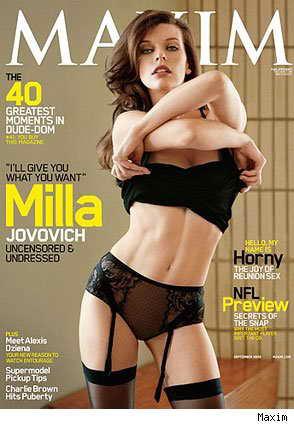 Бывшая киевлянка, модель и актриса Милла Йовович, Maxim, сентябрь 2009