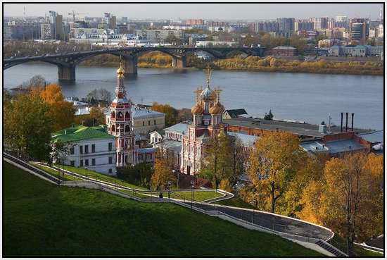 Строгановская церковь в Нижнем Новгороде, Россия