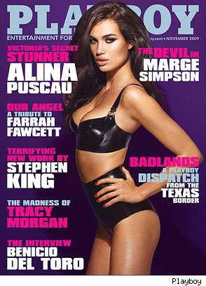 Румынская модель Alina Puscau, Playboy, ноябрь 2009 (против Мардж Симпсон)