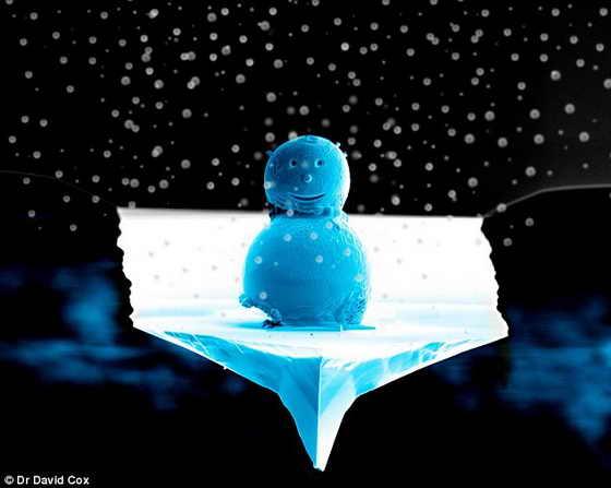 Самый маленький снеговик в мире