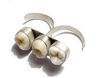 Кольцо с зубами