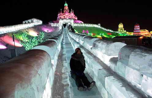 Ледяные горки Харбинского дворца