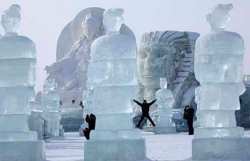 Ледяные скульптуры Харбинского фестиваля