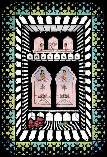 загробная жизнь Апу и его жена Manjula