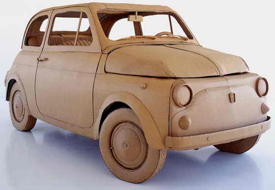 Старенький Fiat 500 в натуральную величину