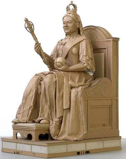 Королева Виктория на троне