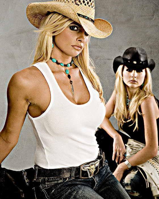 девушка ковбой
