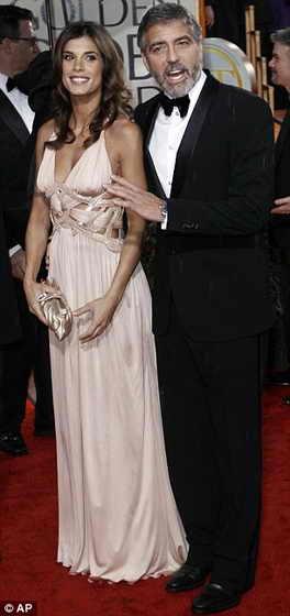 Последний фильм с участием Джорджа Клуни Мне бы в небо / Up in the Airв біл наминирован на шесть номинации. На фото Джордж Клуни и его подруга Элизабетта Каналис