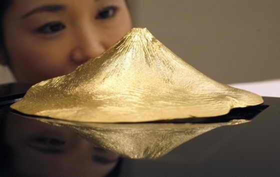 Золотая гора Фуджи от Ginza Tanaka