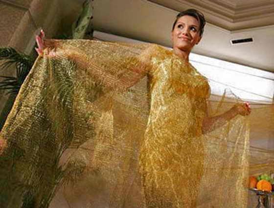 Золотое платье от Ginza Tanaka