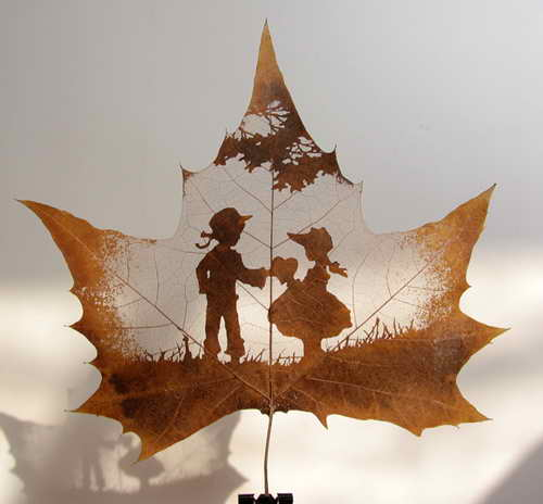 Exotic Art of Leaf Carving.
