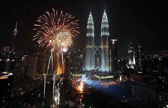 фейерверк в Малазии
