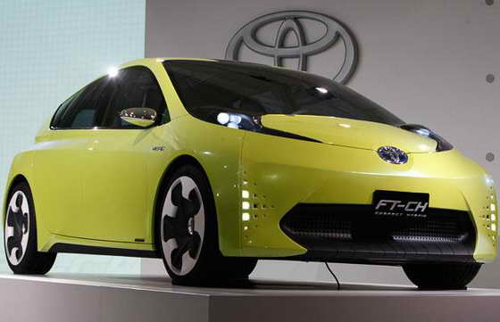 Компактный концепт кар - гибрид Toyota FT-CH