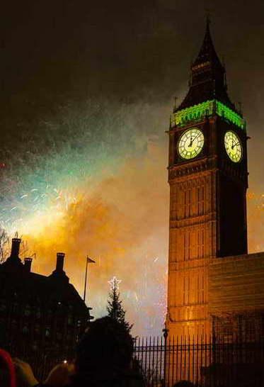 фейерверк в Лондоне