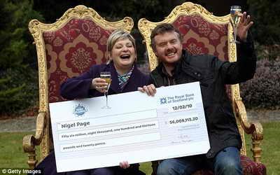 Победители лотереи EuroMillions Lottery из Великобритании