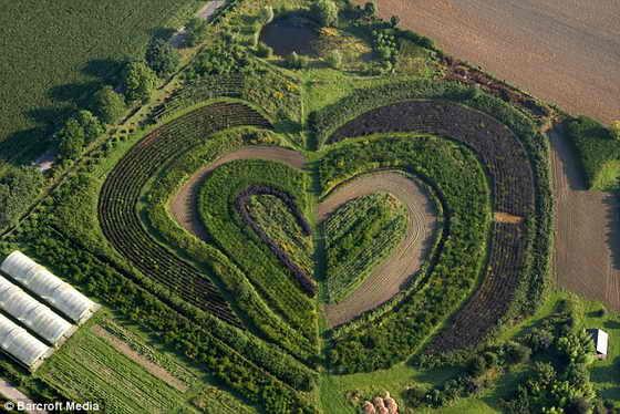 Лужайка любви: Сад в городе Вальтроп, около Дортмунд, Германия