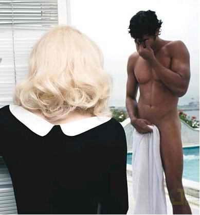 Мадонна и Хесус Лус на фотосессии для W