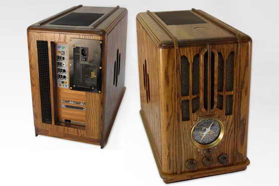 Моддинг системного блока под ретро-радио