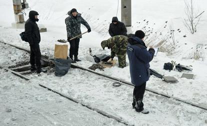 Место взрыва в Петербурге
