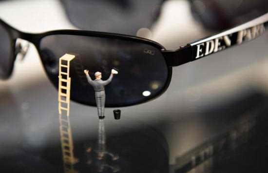 Блестящие солнечные очки