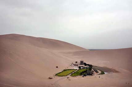 Пустыня Гоби. Китай. Оазис