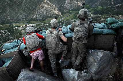 Афганистан. Солдаты 1-го батальона армии США