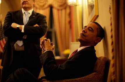 Барак Обама в ожидании выхода