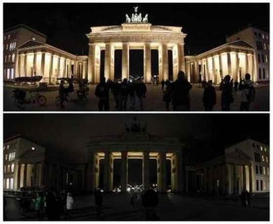 """""""Час Земли"""", Бранденбургские ворота, Берлин"""