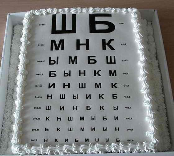 Торт в подарок офтальмологу