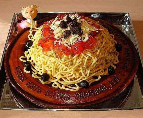 Торт - гора спагетти