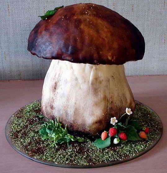 Торт - белый гриб