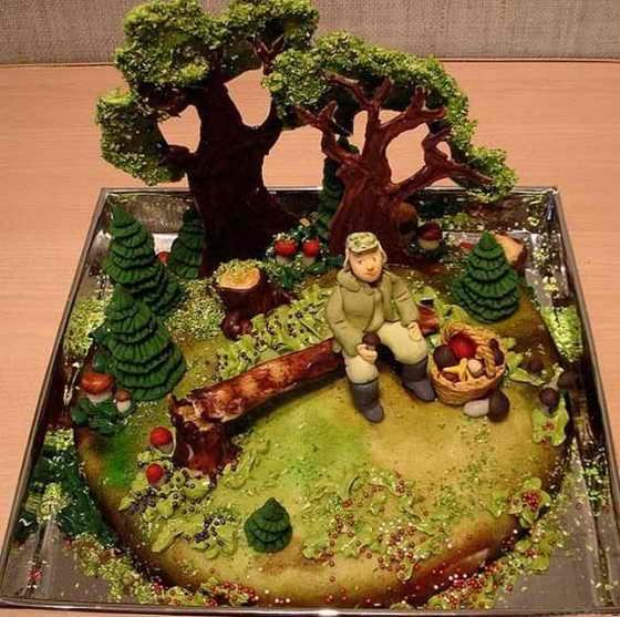 Торт в подарок грибнику
