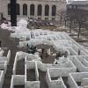 Самый большой лабиринт из льда