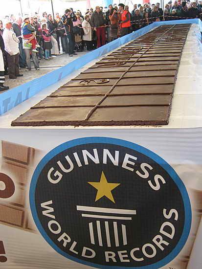 Книга рекордов Гиннеса - Самая длинная шоколадка