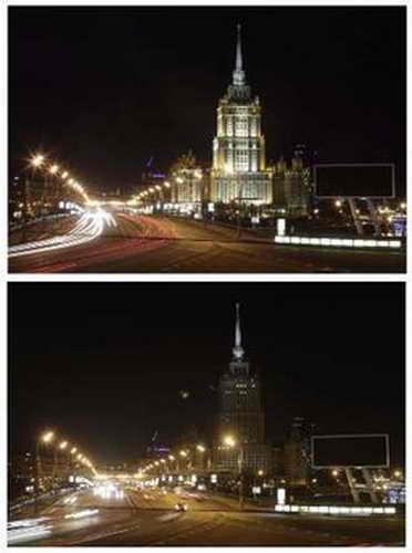 """""""Час Земли"""", гостиница """"Украина"""", Москва"""