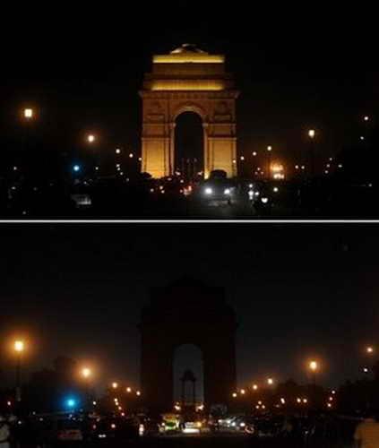 """""""Час Земли"""", Золотые ворота, Нью-Дели, Индия"""