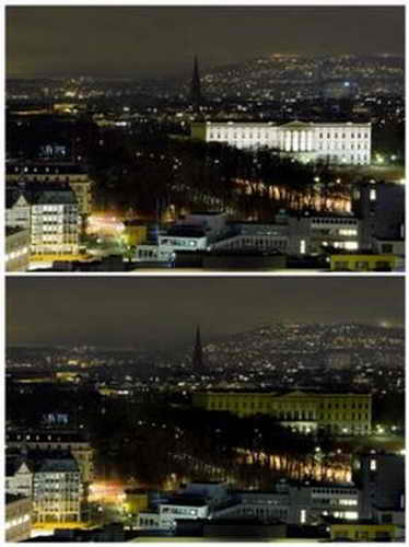 """Час Земли"", Королевский дворец, Осло, Норвегия"