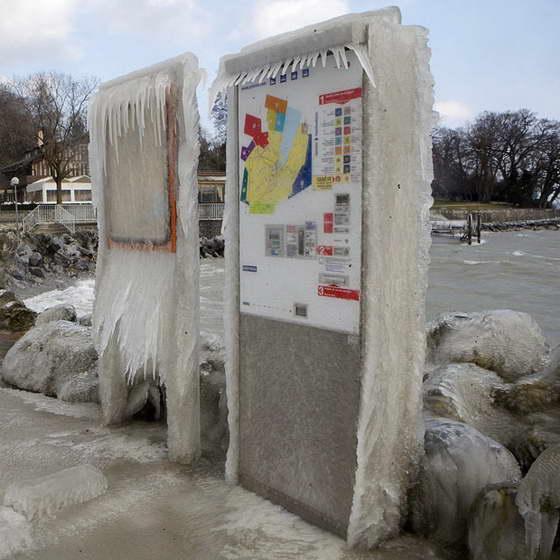 Ледяной плен в Швейцарии