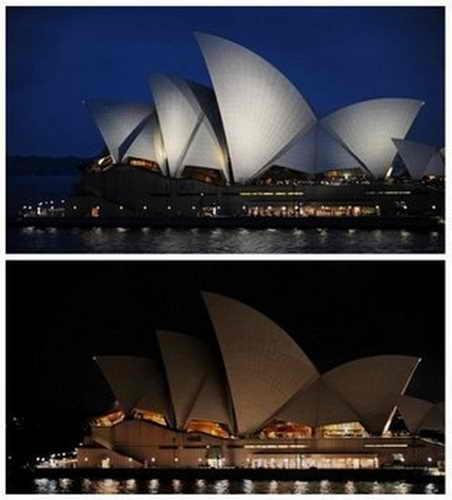 """""""Час Земли"""", Оперный театр в Сиднее, Австралия"""