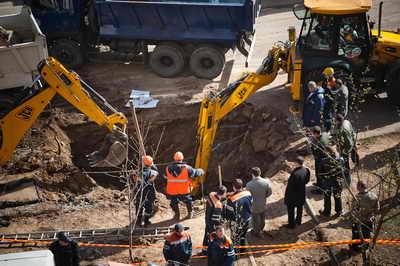 Взрыв газопровода в Москве