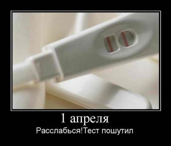 Демотиваторы: Тест на беременность